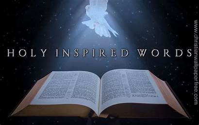 Holy Words Inspired Christian Backgrounds Bible Spirit
