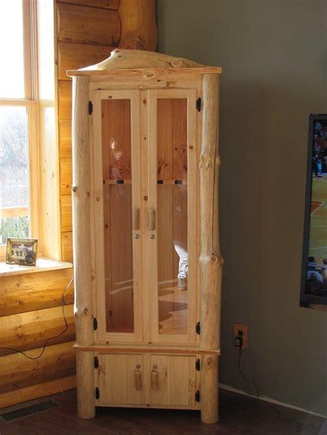 custom rustic log gun cabinet wwwkickapoocountrymillingcom business wood gun cabinet
