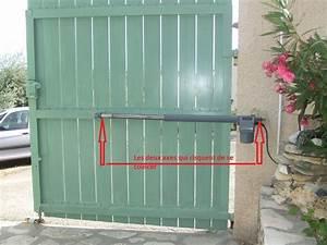 Fixation Portail Battant : moteur a bras pour portail avec pente ~ Premium-room.com Idées de Décoration