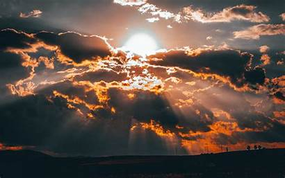 Clouds Sun Sunset Overcast 4k Background Ultra