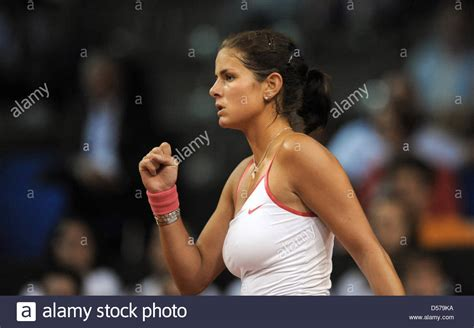 julia goerges match german julia goerges cheers during the first round match