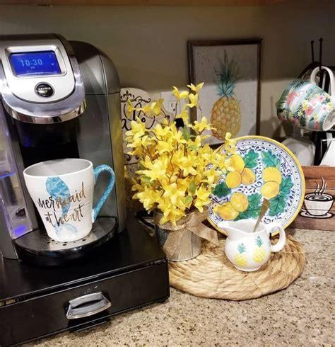 Backsplash and counter top diy kitchen decor coffee bar home. 12 Creative Coffee Bar Ideas For The Kitchen Counter - Home Coffee Bar Ideas - Decorating Ideas ...