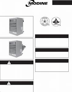 Modine Manufacturing Heating System Pdb User Guide