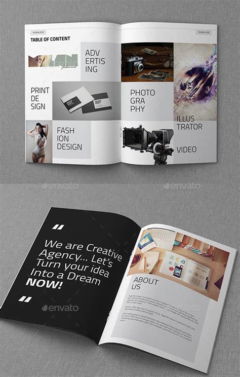 awesome portfolio brochure templates web