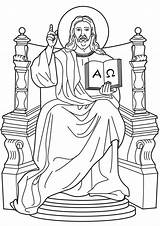 Coloring King Christ Pages Popular sketch template