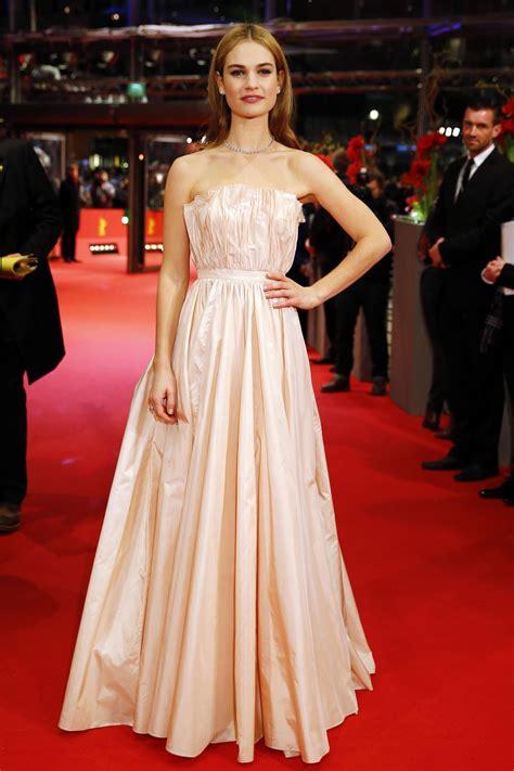LILY JAMES at Cinderella Premiere in Berlin – HawtCelebs
