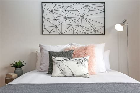 Funky Pink Grey Black And White Teen Girls Bedroom Faux