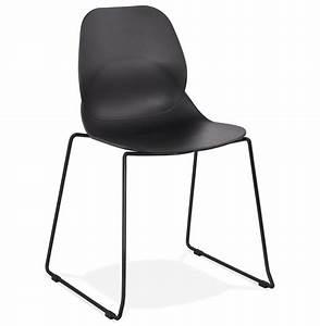 Chaise Pied Metal Noir : chaise design numerik noire avec pieds en m tal noir ~ Teatrodelosmanantiales.com Idées de Décoration