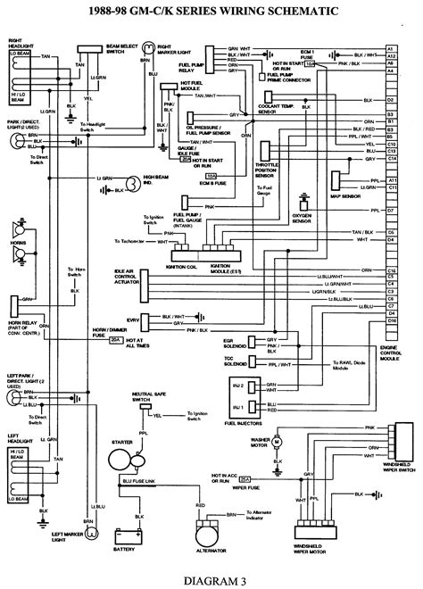 gmc truck wiring diagrams  gm wiring harness diagram