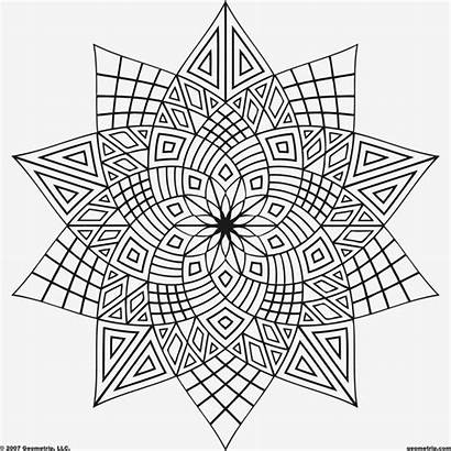Geometric Coloring Pages Printable Adult Adults Sheets