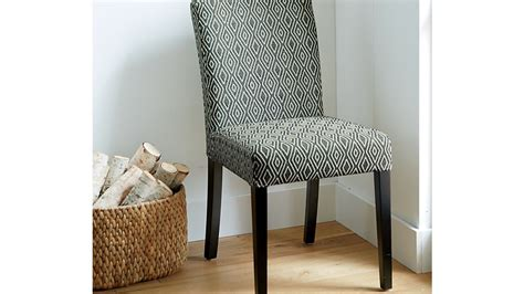 lowe diamond upholstered dining chair crate  barrel