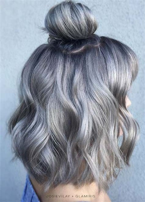 Dying Hair Color Ideas by 85 Silver Hair Color Ideas And Tips For Dyeing