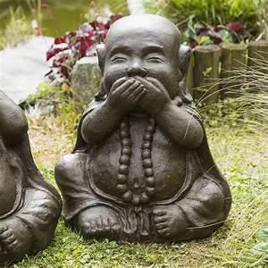 Statue De Bouddha : statues de bouddha sagesse patin brun antique 40 cm ~ Teatrodelosmanantiales.com Idées de Décoration