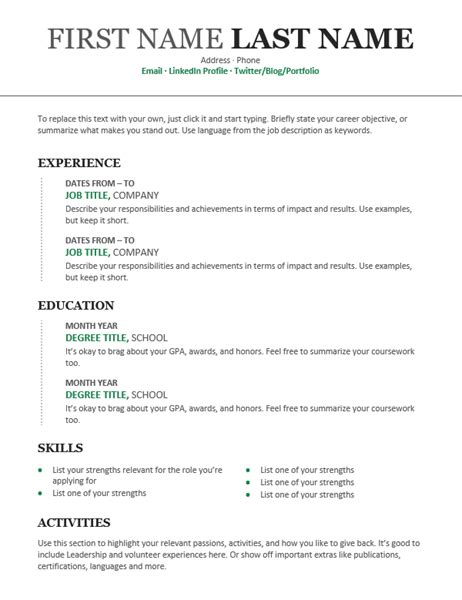 Chronological Resume Images by Chronological Resume Modern Design