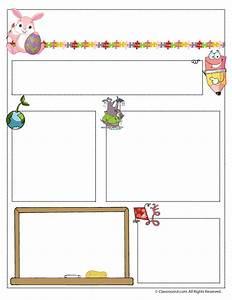 april teacher newsletter template classroom jr pre k With free april newsletter template