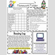 Homework Folder And Newsletter Template *editable Super