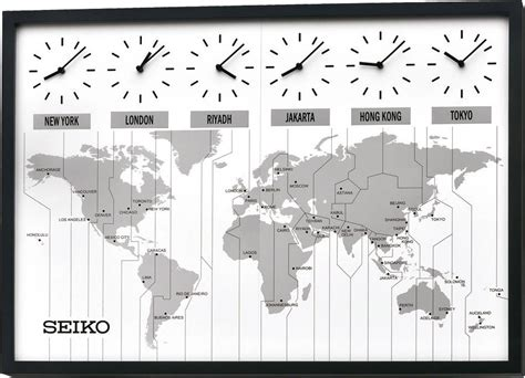 vægur seiko world time map oak pemium vægure priisma