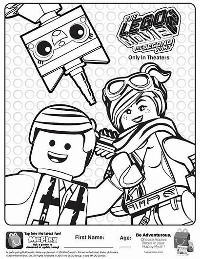 Coloring Lego Meal Happy Mcdonalds Sheet Kid