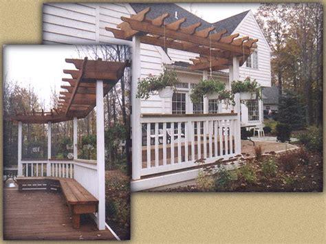 custom wood sun trellis  elyria fence