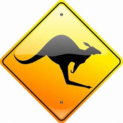 Kangaroo Sign Australia Australian Clipart Kangaroos Clip