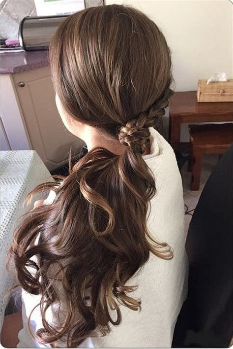 casual wavy ponytail hairstyles