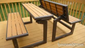 awesome convertable picnic table bench review doovi