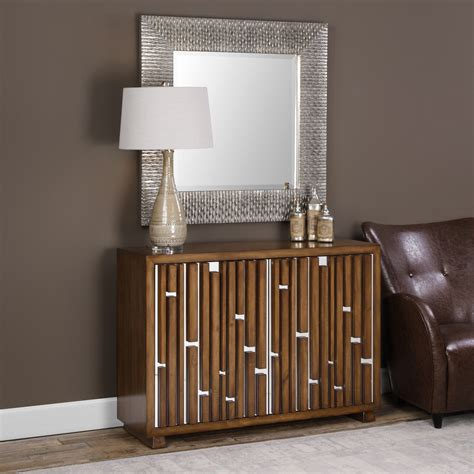 modern console cabinet eileen mid century modern brown console cabinet 24694