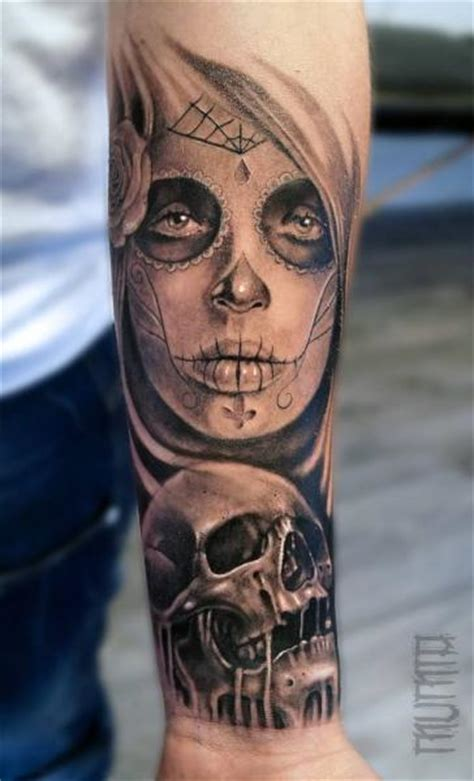 arm mexican skull tattoo  mumia tattoo