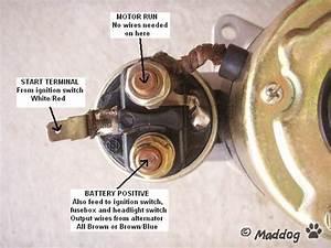Starter Motor Wiring