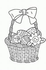 Coloring Easter Basket Pages Egg Printables sketch template