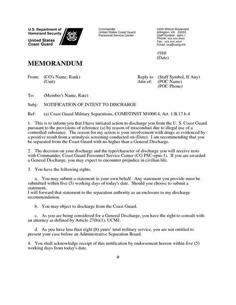 coast guard memorandum template letter