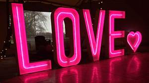 light up love letters the word is love With little light up letters
