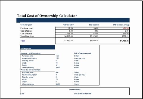 building life cycle cost analysis spreadsheet