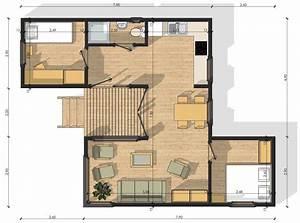 cuisine habitats modulaires plan chalet bois 100m2 plan With maison de 100m2 plan 11 maison modulaire elegance de 20m2 40m2 50m2 60m2