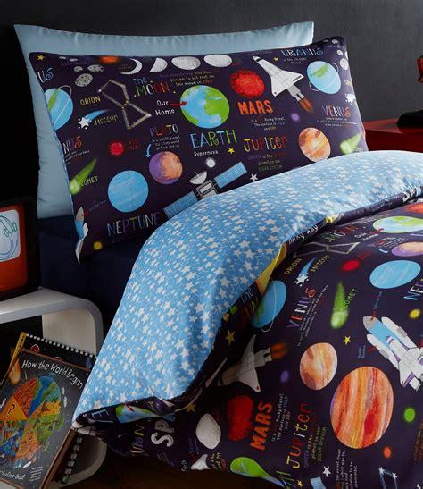planets space ship rocket solar system reversible duvet