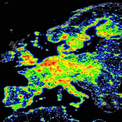 Carte Europeenne Pollution by Qu Est Ce Que La Pollution Lumineuse