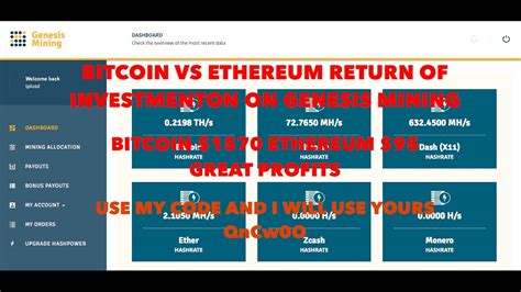 genesis mining roi bitcoin vs ethereum roi genesis mining great profits use