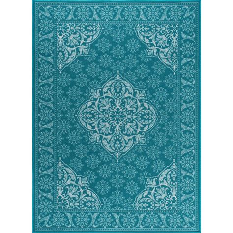 teal living room furniture tayse rugs majesty teal 5 ft x 7 ft traditional area rug