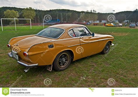 Vintage Volvo P1800 E During Old Cars Race Editorial Stock ...
