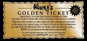 wonka golden ticket template group 68 With willy wonka invitations templates