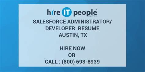salesforce administratordeveloper resume austin tx