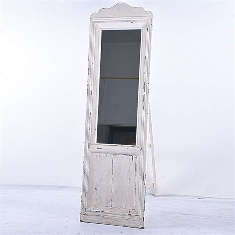 wholesale french shabby chic vintage large white wooden floor mirror buy floor mirror