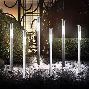 Lampen Für Terrasse : 6er set solarleuchten led garten au en leuchten lampen solar gartenlampen licht ebay ~ Sanjose-hotels-ca.com Haus und Dekorationen