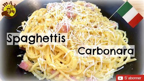 p 226 tes carbonara recette italienne sans cr 232 me plat facile rapide