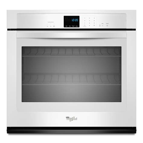 wall oven cabinet lowes shop whirlpool single electric wall oven white common