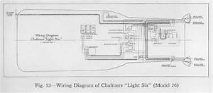 Complete Wiring Diagram Of 1915 Chalmers Light Six Model