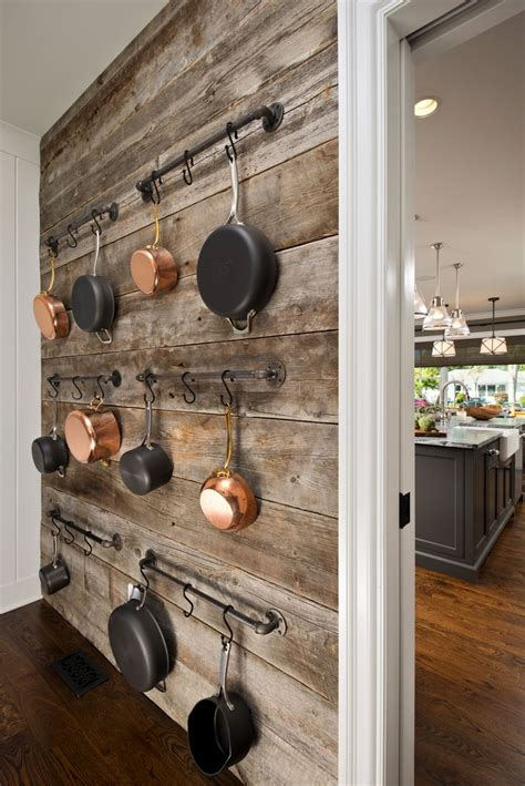 barnwood wall  pantry offers  beautiful accent wall