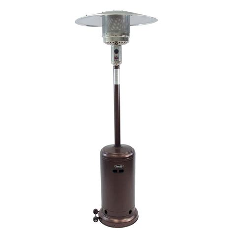 patio heater reviews dyna glo 41 000 btu deluxe hammered bronze gas patio