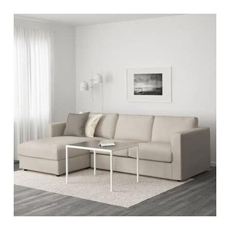 sofa vimle ikea 2 plazas vimle sof 225 3 plazas chaiselongue gunnared beige ikea