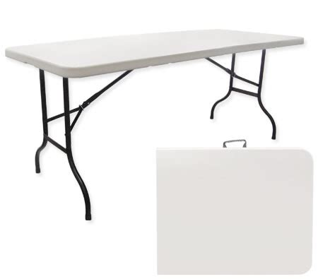 large folding portable outdoor table white